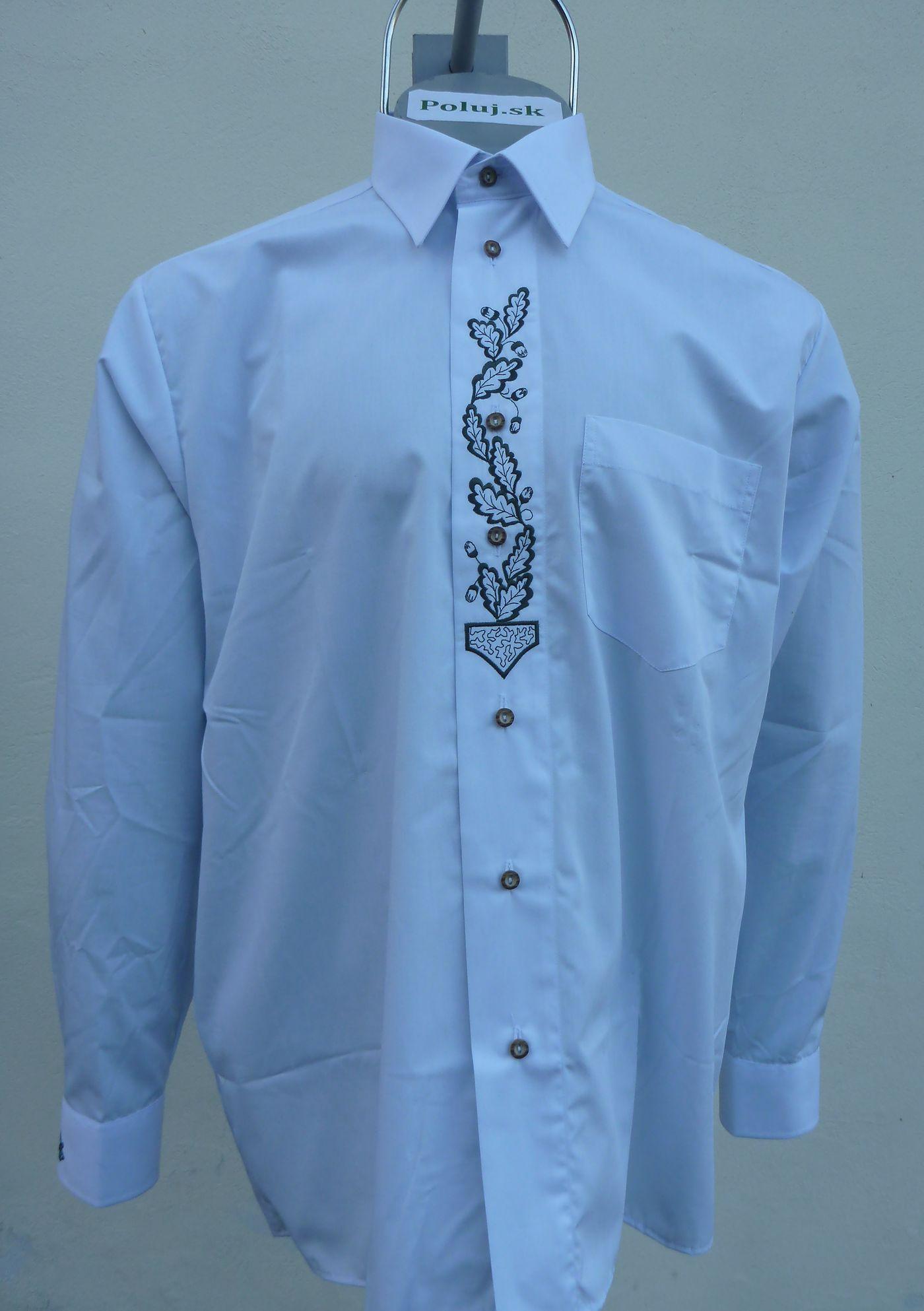b4204921da Biela košeľa s výšivkou